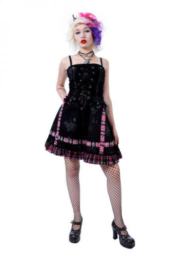 Punk Minikleid Pink Large