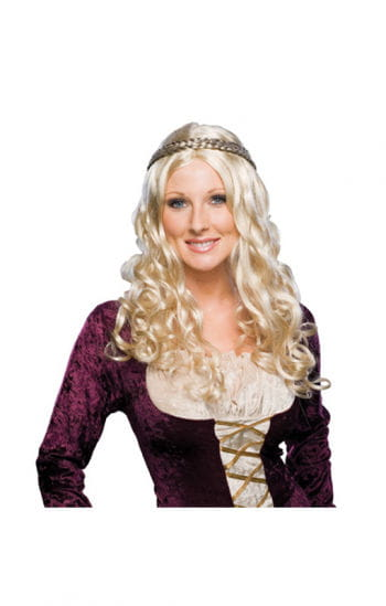 Renaissance curly wig blonde