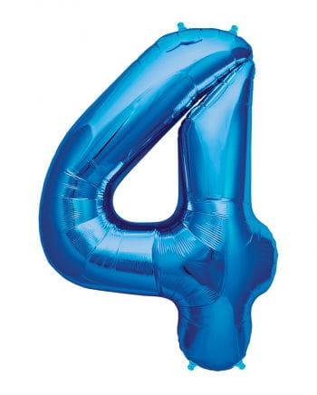 Foil balloon number 4 Blue