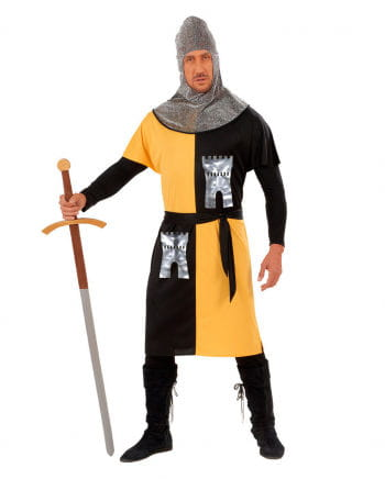 Ritterkostüm gelb/schwarz Gr. M