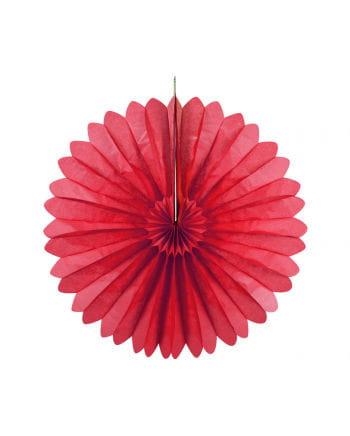 Rosettenfächer rot 35 cm