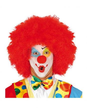 Rote Afro Clown Perücke