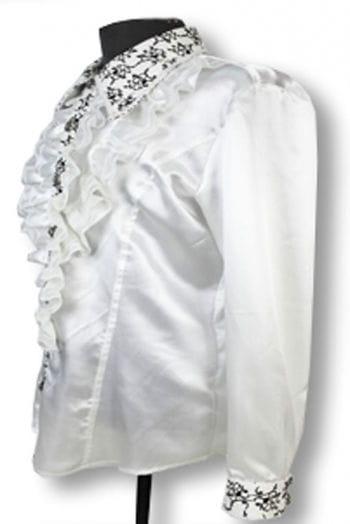 Elegant ruffled shirt White