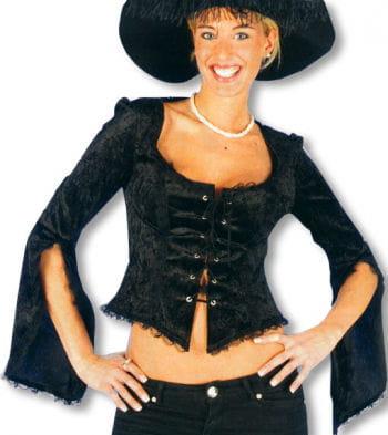 Velvet blouse black