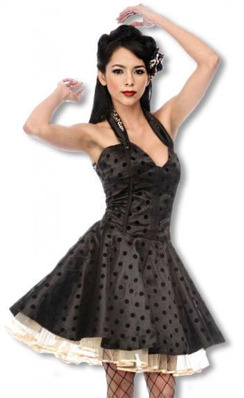 Satin Petticoat Kleid mit Leoparden Muster M M / 38