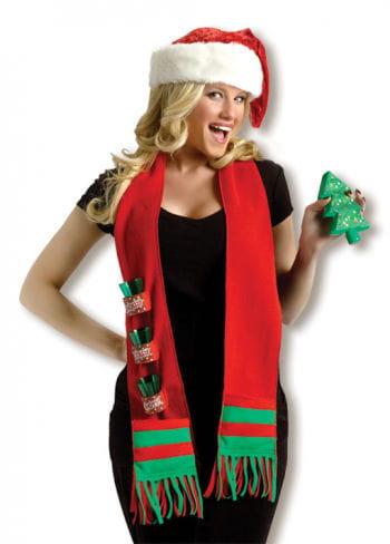 Weihnachtlicher liquor scarf