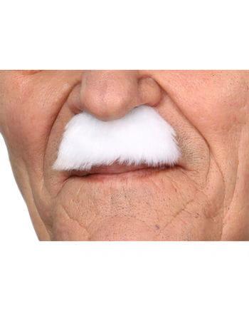 Schnurrbart Charlie Weiß