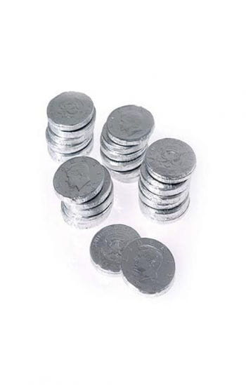 Chocolate Coins Silver