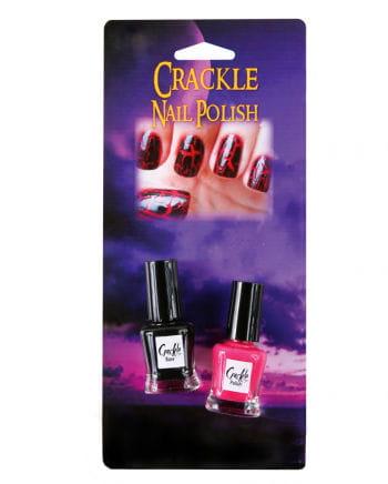 Crackle Nail Polish Set Black and Red