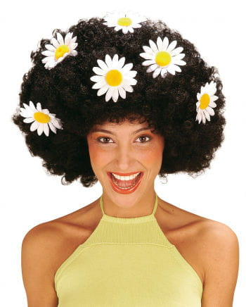 Flower Power Afro Wig Black