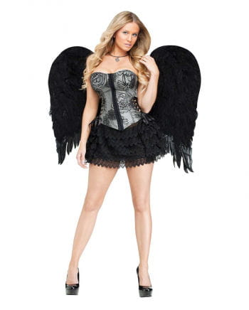 Black angel wings large