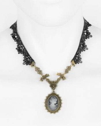 Victorian necklace with cameo pendant
