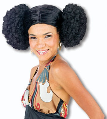 Schwarze Perücke Afro Style