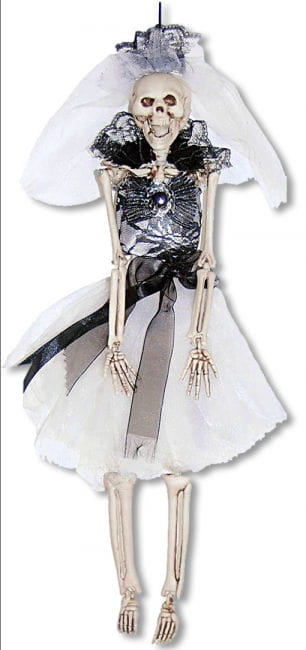 Schwarze Skelettbraut Hängefigur