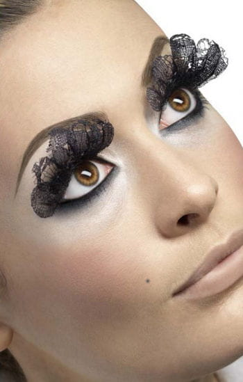 Spitzen Wimpern schwarz lang