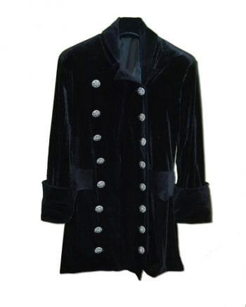 3/4 black velvet coat size L