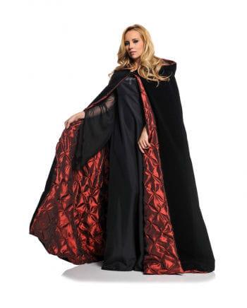 Black Deluxe Velvet Hooded Cloak