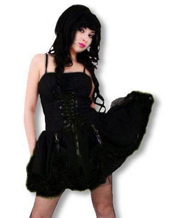 Black Gothic mini dress M