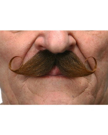 Self-adhesive handlebar mustache brown