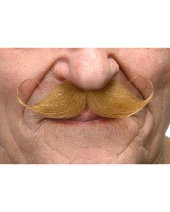 Self-adhesive handlebar mustache red-blond