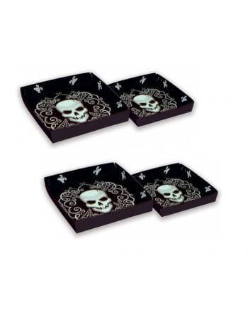 Serving Plates With Skull Design 4-set