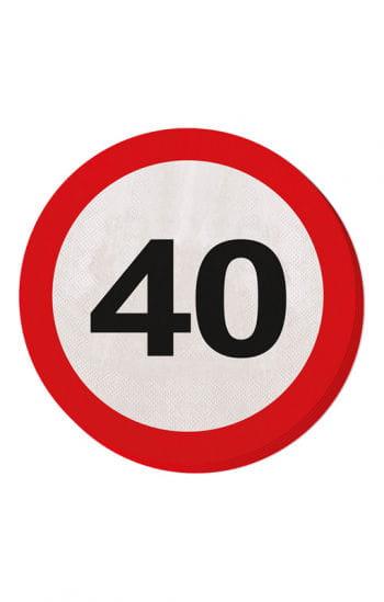 Napkin traffic sign 40