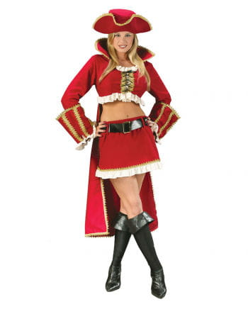 Sexy Captain Blackheart Pirate Costume. 40-42 M / L