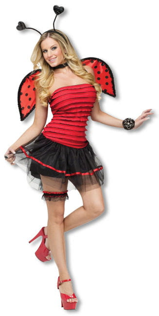 Sexy Marienkäfer Kostüm M/L 38-40 M/L