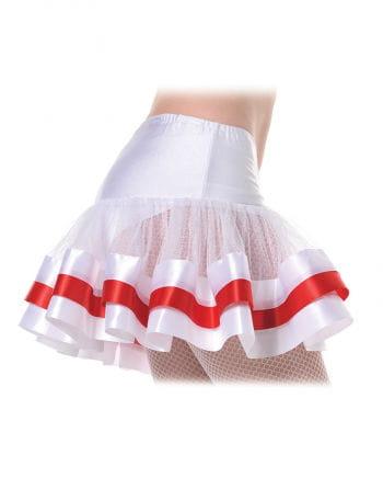 Petticoat weiß/rot