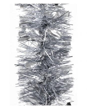 Lametta-Girlande glanz/matt - Silber 2,7m
