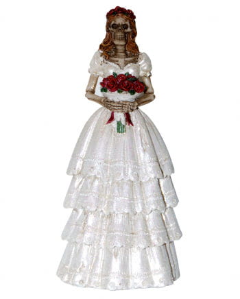 Skeleton bride figure 13 cm