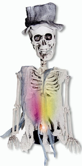 Skeleton groom with LED
