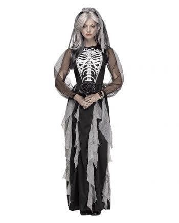 Skelett Braut Damenkostüm