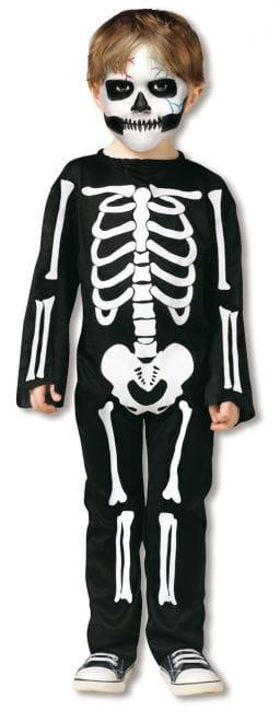 Skelett Kleinkinder Kostüm S
