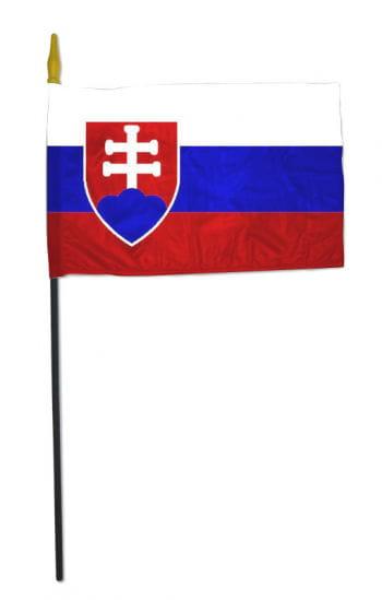 Kleine Stockflagge SLOWAKEI