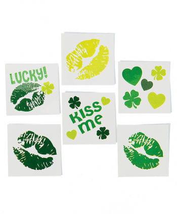 St. Patrick`s Day Kiss Tattoos