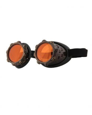 Steampunk Brille Aviator Kupfer