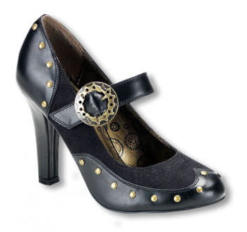 Steampunk shoes with straps