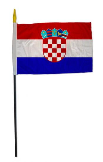 Stockflagge KROATIEN