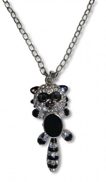 Necklace with Strass Raccoon