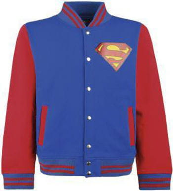Superman College Jacket blue