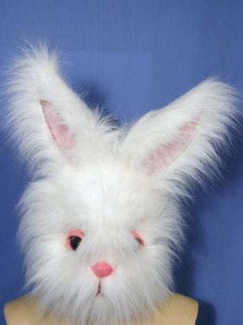 Supreme rabbit mask with faux fur