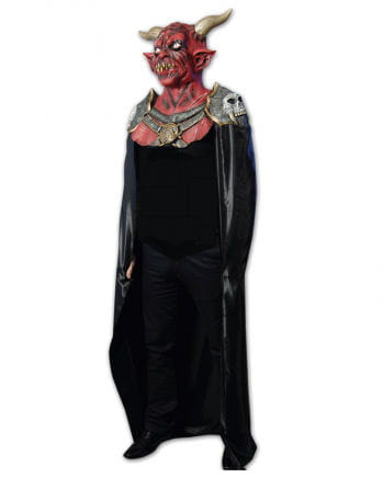 Latex Devil Mask with Cape