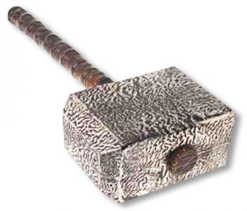 Thor's Hammer Silver Coloured