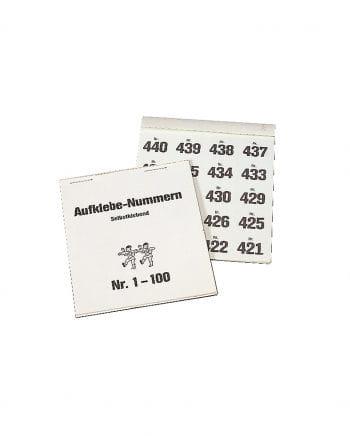 Tombola Aufklebe-Nummern 500 Stück