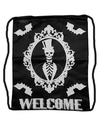 Trick or Treat Bag with Skeleton Motif
