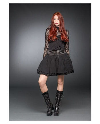 Location skirt with laced satin collar