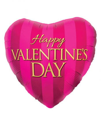 Foil Balloon Happy Valentines Day Pink
