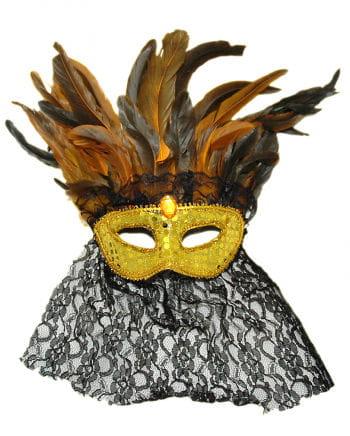 Venezianische Feder Augenmaske