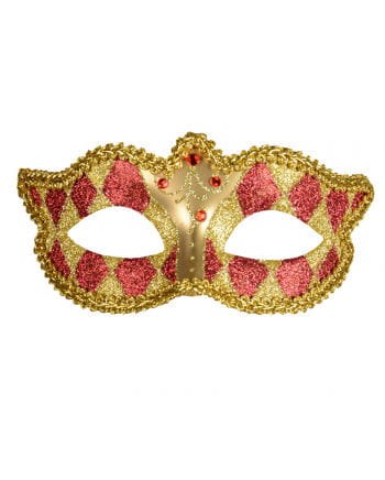 Venetian Harlequin mask gold / red